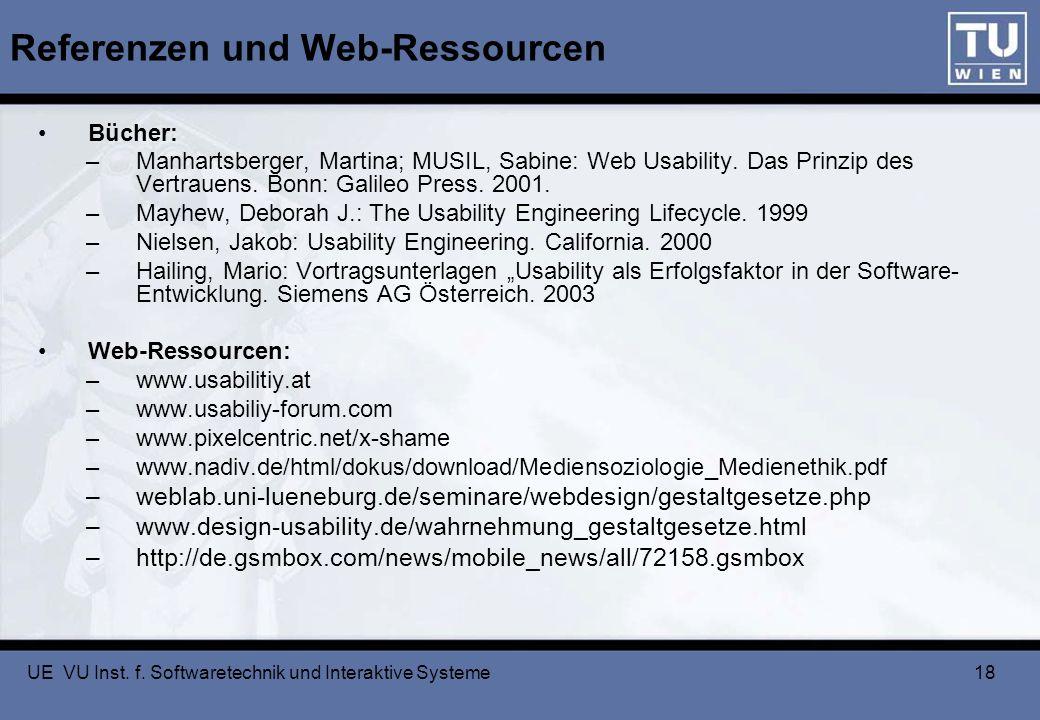Referenzen und Web-Ressourcen