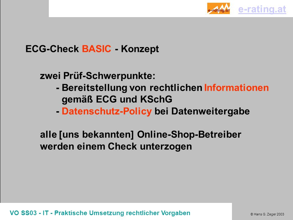 ECG-Check BASIC - Konzept