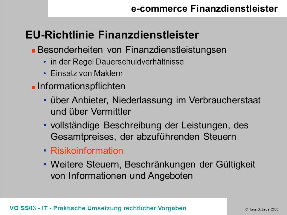 EU-Richtlinie Finanzdienstleister