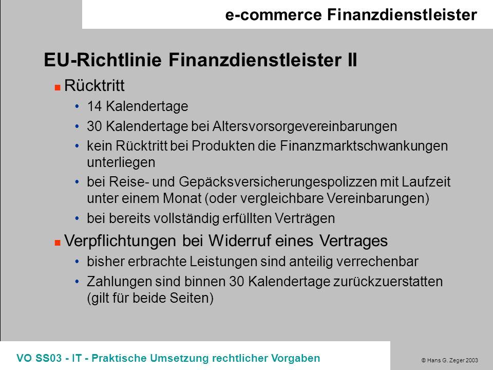 EU-Richtlinie Finanzdienstleister II