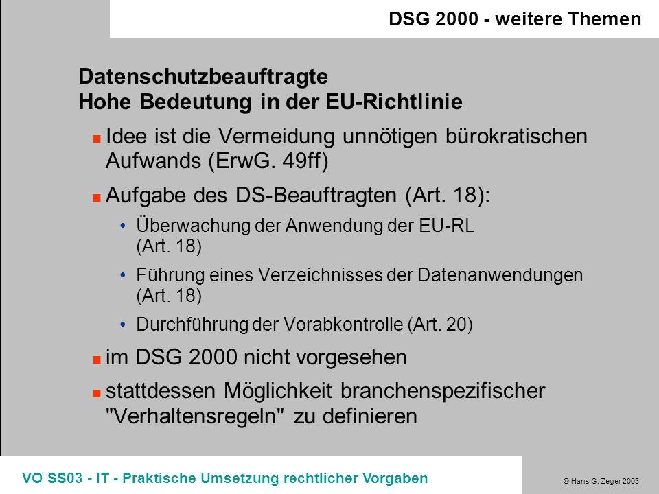 Datenschutzbeauftragte Hohe Bedeutung in der EU-Richtlinie