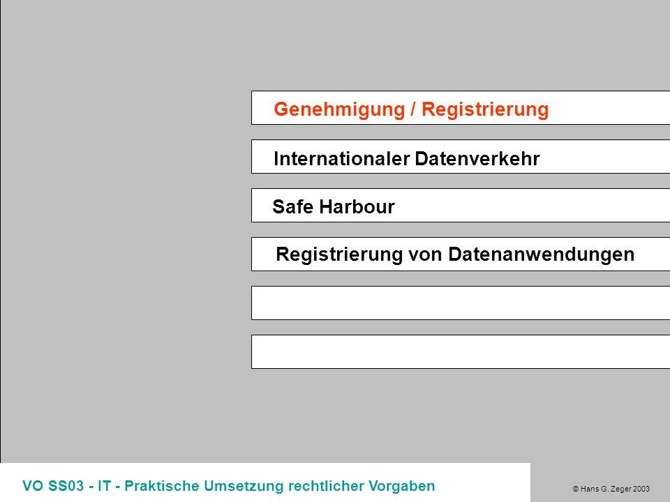 Genehmigung / Registrierung