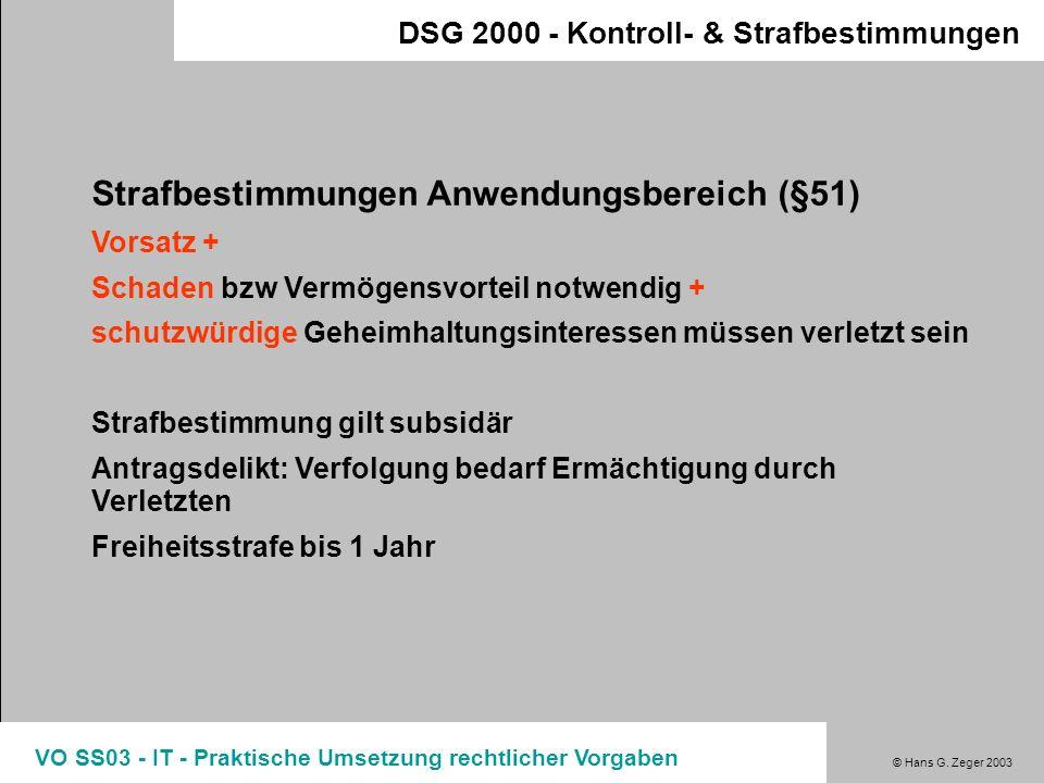 Strafbestimmungen Anwendungsbereich (§51)