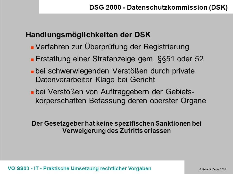 Handlungsmöglichkeiten der DSK