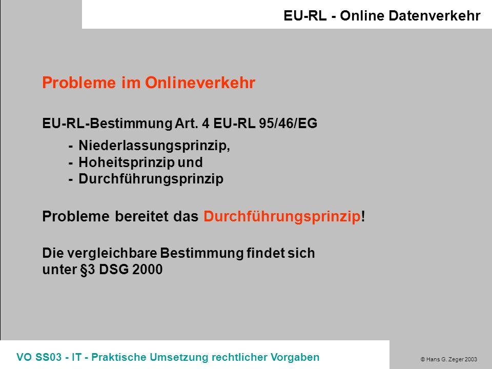 Probleme im Onlineverkehr