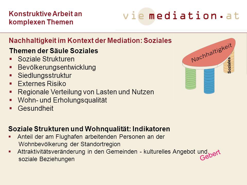 Nachhaltigkeit im Kontext der Mediation: Soziales