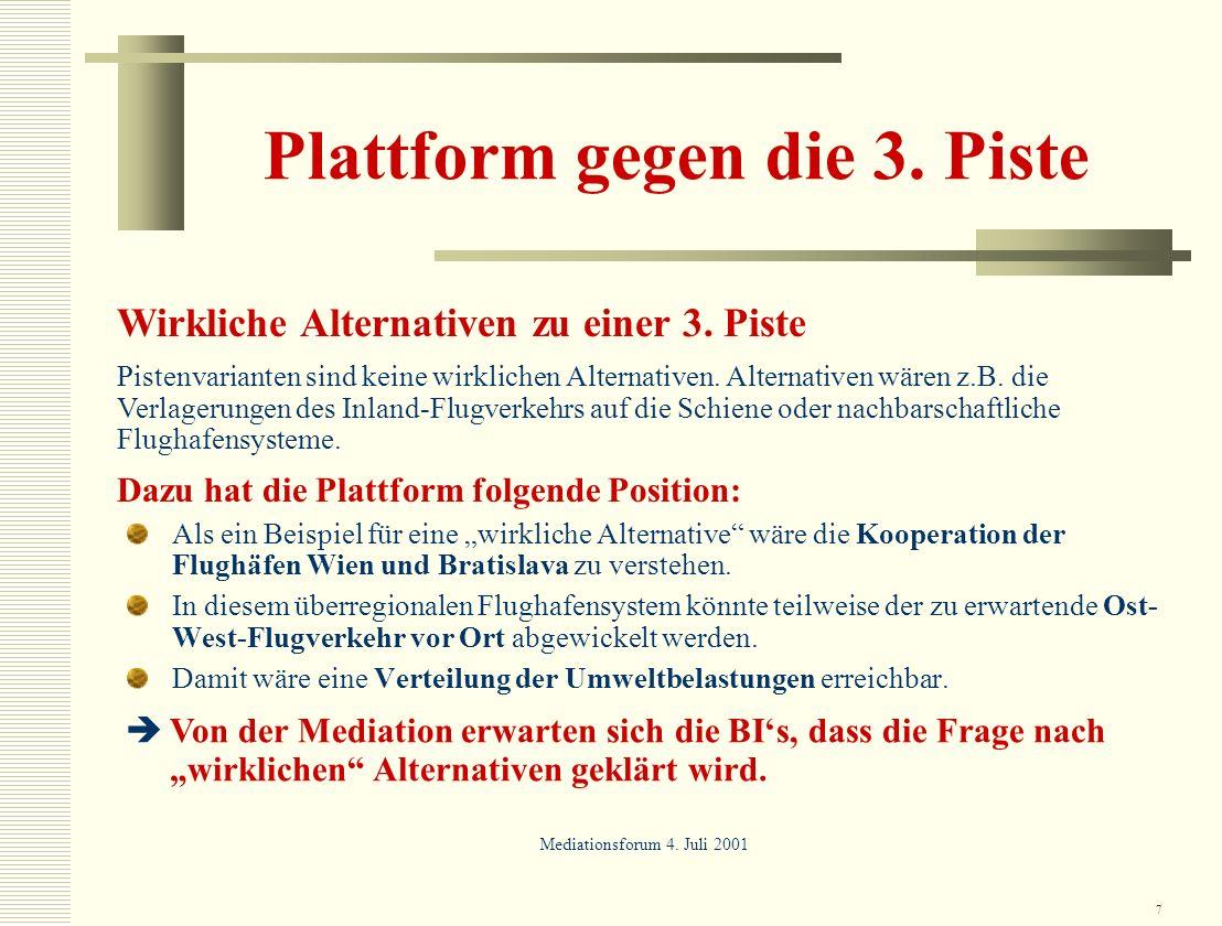 Plattform gegen die 3. Piste