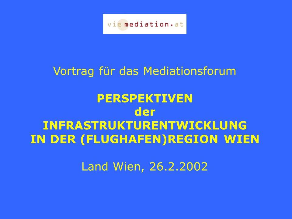 INFRASTRUKTURENTWICKLUNG IN DER (FLUGHAFEN)REGION WIEN