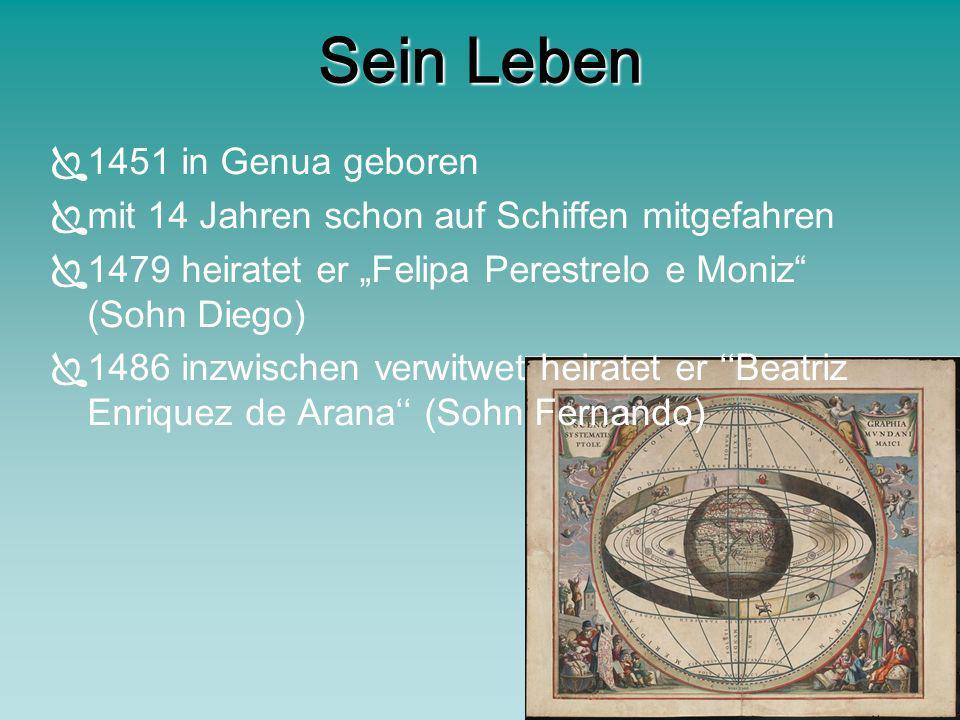 Sein Leben 1451 in Genua geboren