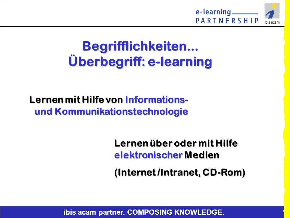 Begrifflichkeiten... Überbegriff: e-learning