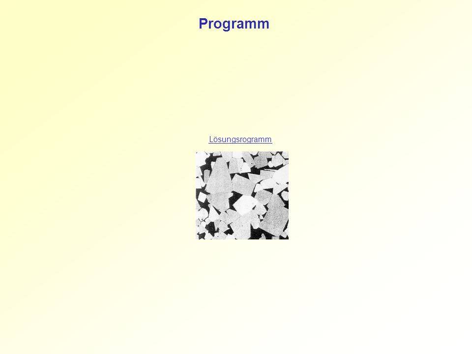 Programm Lösungsrogramm