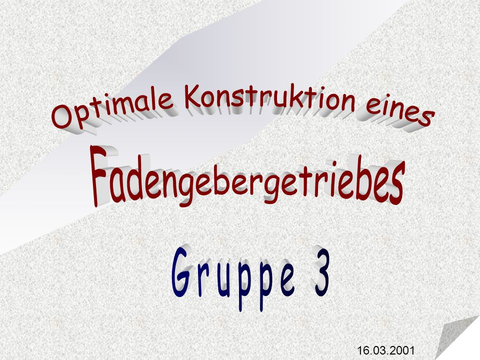 Optimale Konstruktion eines