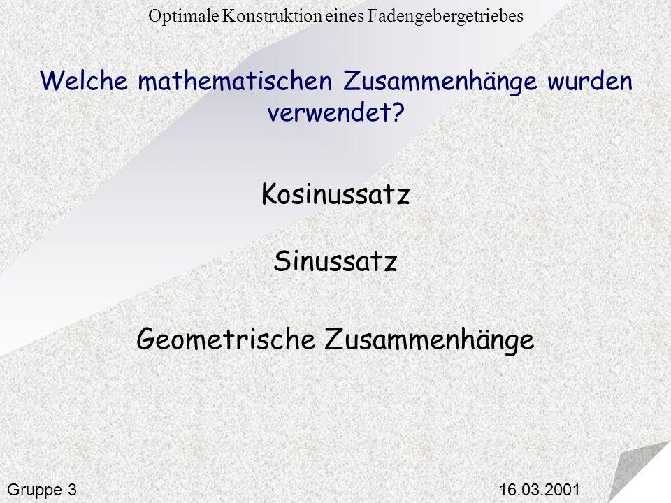 Geometrische Zusammenhänge