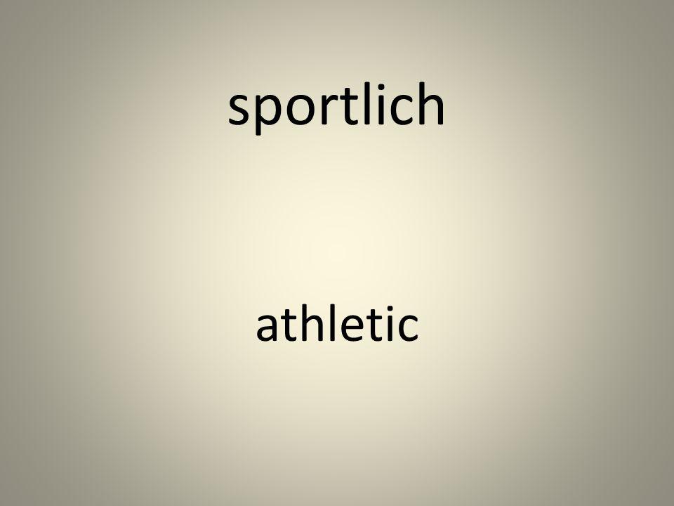 sportlich athletic
