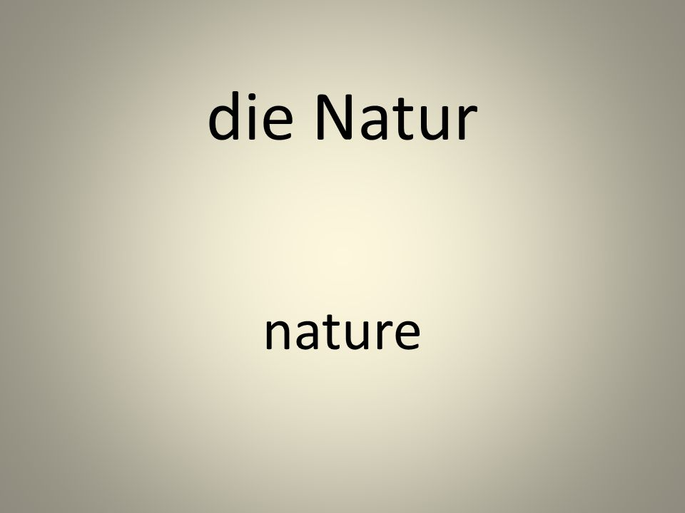 die Natur nature