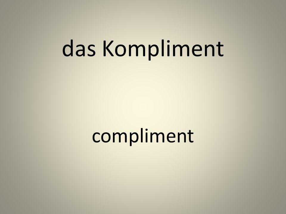 das Kompliment compliment