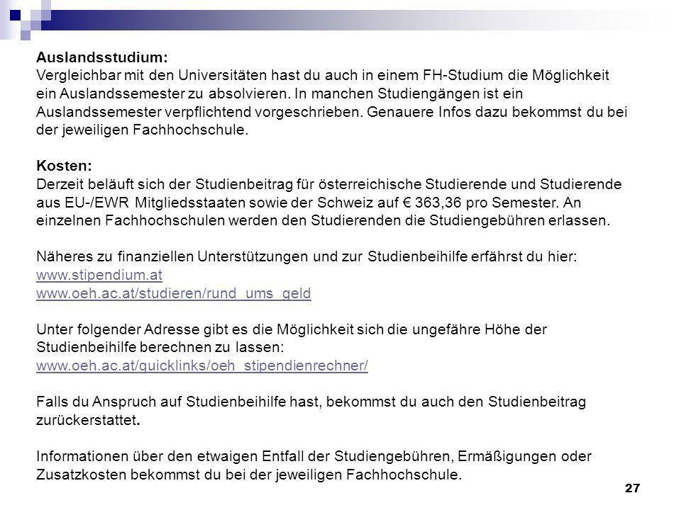 Auslandsstudium: Vergleichbar mit den Universitäten hast du auch in einem FH-Studium die Möglichkeit ein Auslandssemester zu absolvieren.