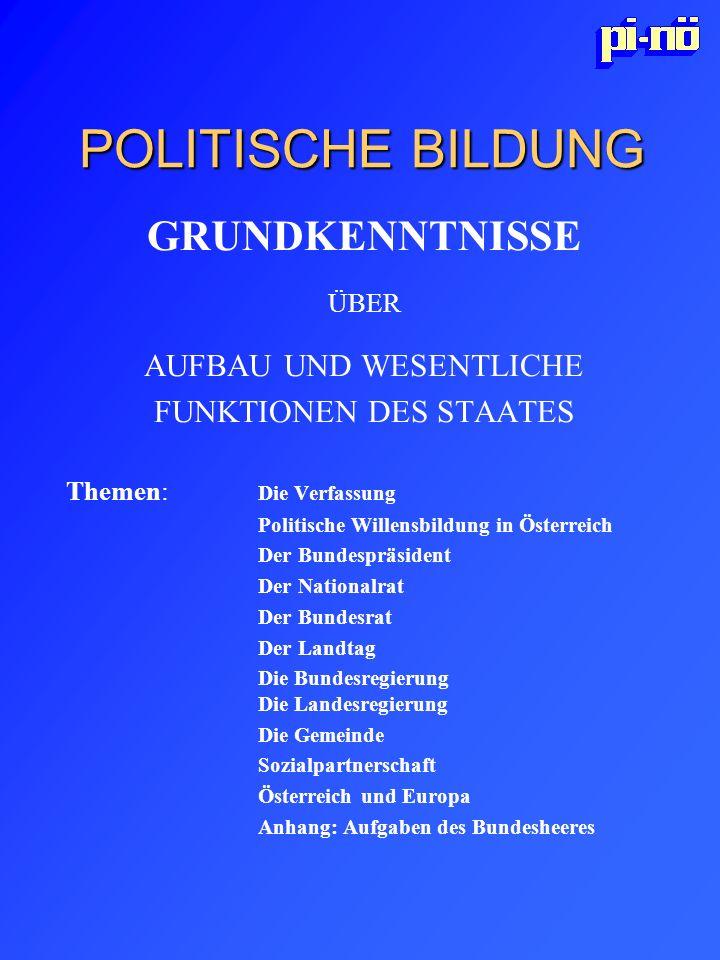 POLITISCHE BILDUNG GRUNDKENNTNISSE AUFBAU UND WESENTLICHE