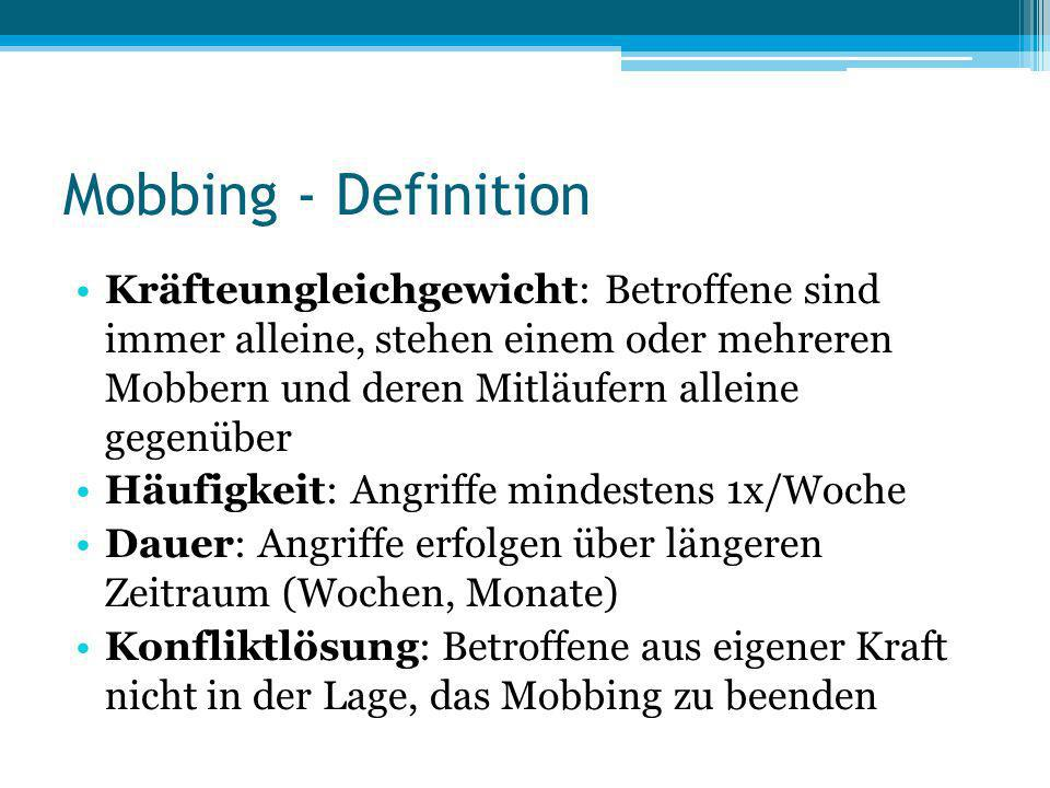 Mobbing - Definition
