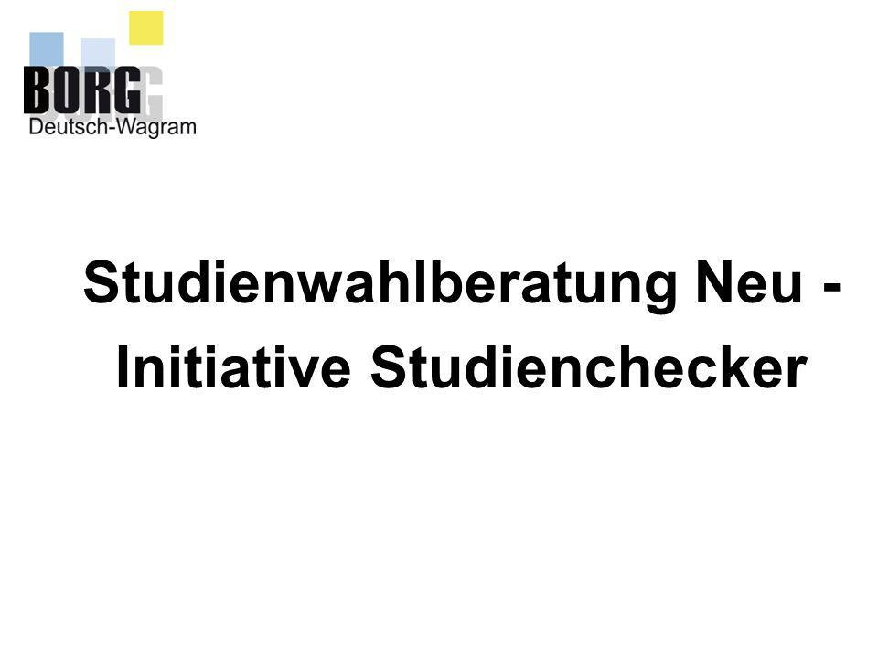 Studienwahlberatung Neu - Initiative Studienchecker
