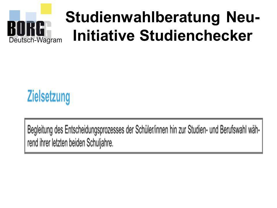Studienwahlberatung Neu- Initiative Studienchecker