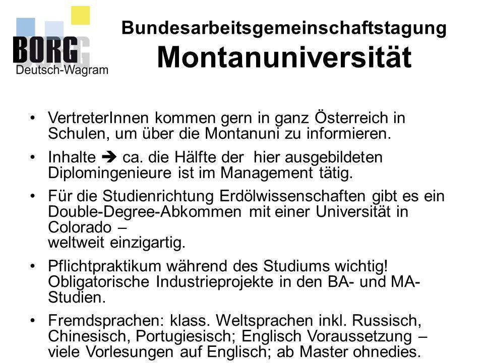 Bundesarbeitsgemeinschaftstagung Montanuniversität