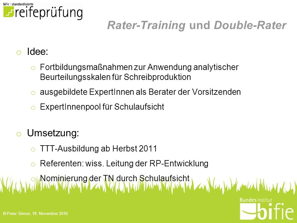 Rater-Training und Double-Rater