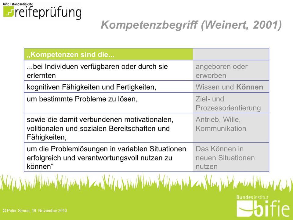 Kompetenzbegriff (Weinert, 2001)