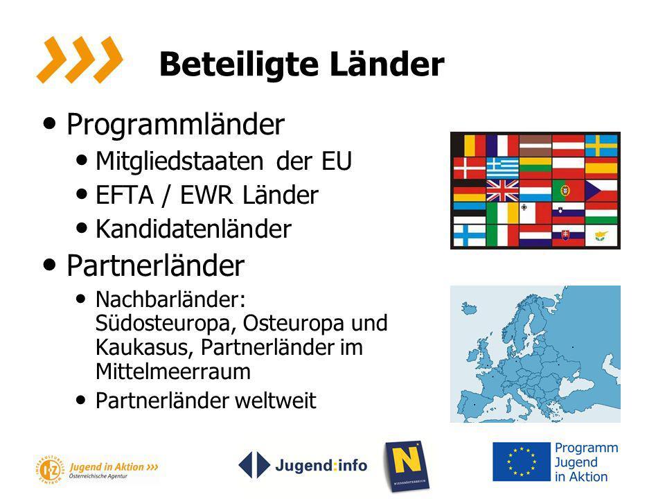 Beteiligte Länder Programmländer Partnerländer Mitgliedstaaten der EU