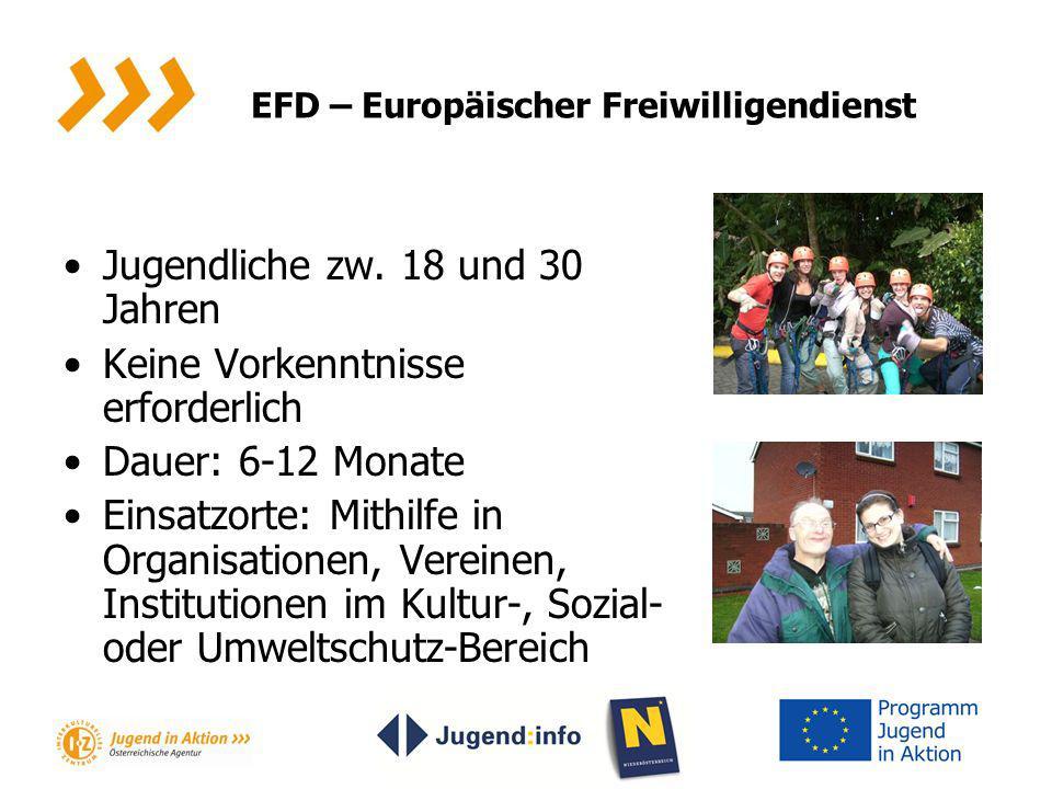 EFD – Europäischer Freiwilligendienst