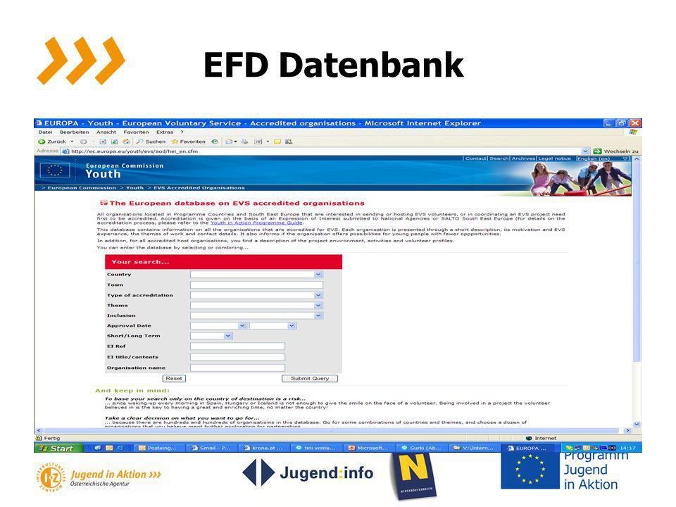 EFD Datenbank