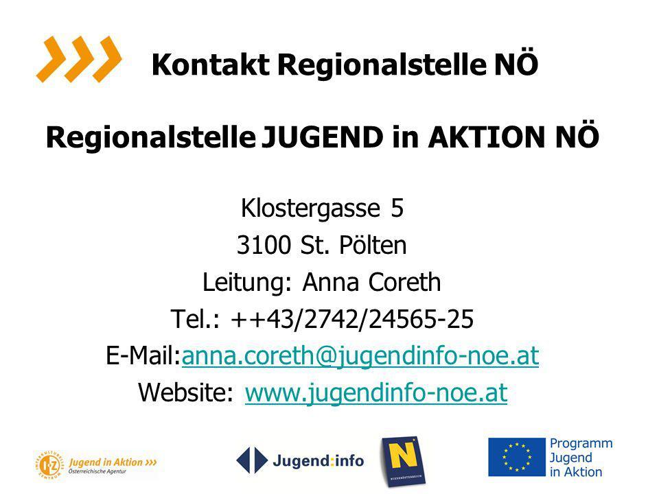 Kontakt Regionalstelle NÖ