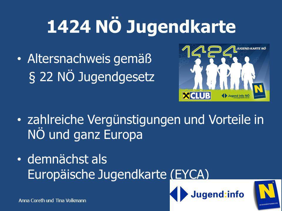 1424 NÖ Jugendkarte Altersnachweis gemäß § 22 NÖ Jugendgesetz