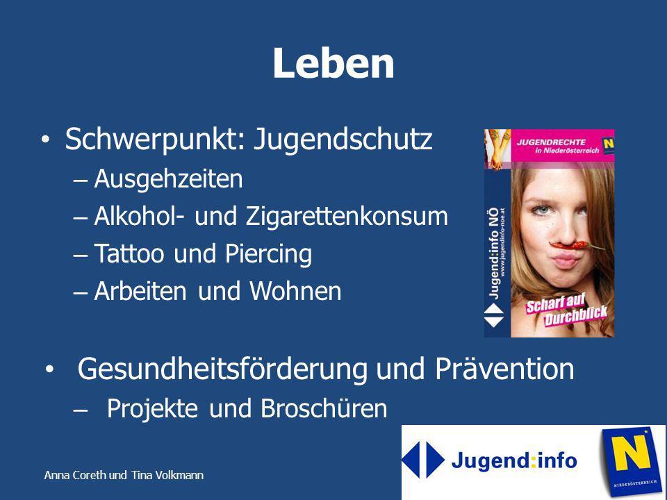 Leben Schwerpunkt: Jugendschutz Gesundheitsförderung und Prävention