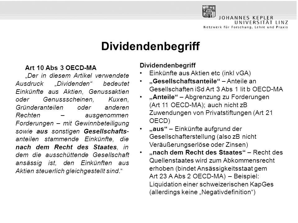 Dividendenbegriff Dividendenbegriff Art 10 Abs 3 OECD-MA