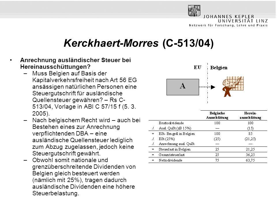 Kerckhaert-Morres (C-513/04)