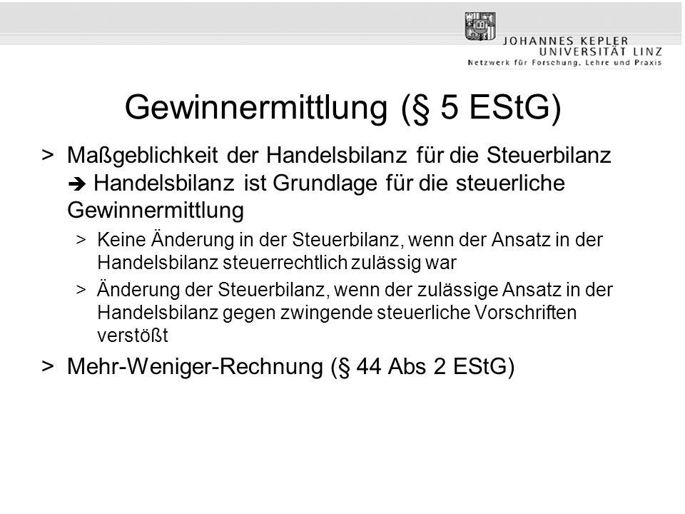 Gewinnermittlung (§ 5 EStG)