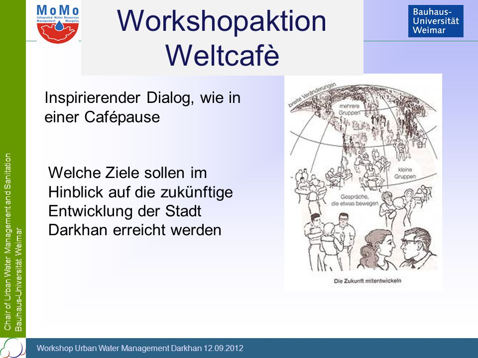 Workshopaktion Weltcafè