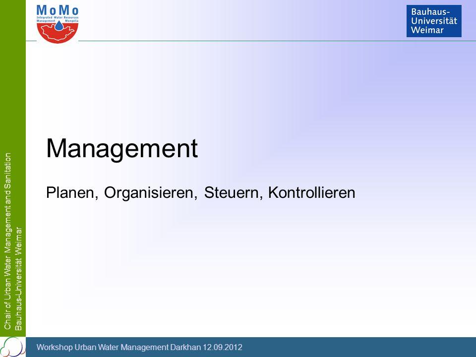 Management Planen, Organisieren, Steuern, Kontrollieren