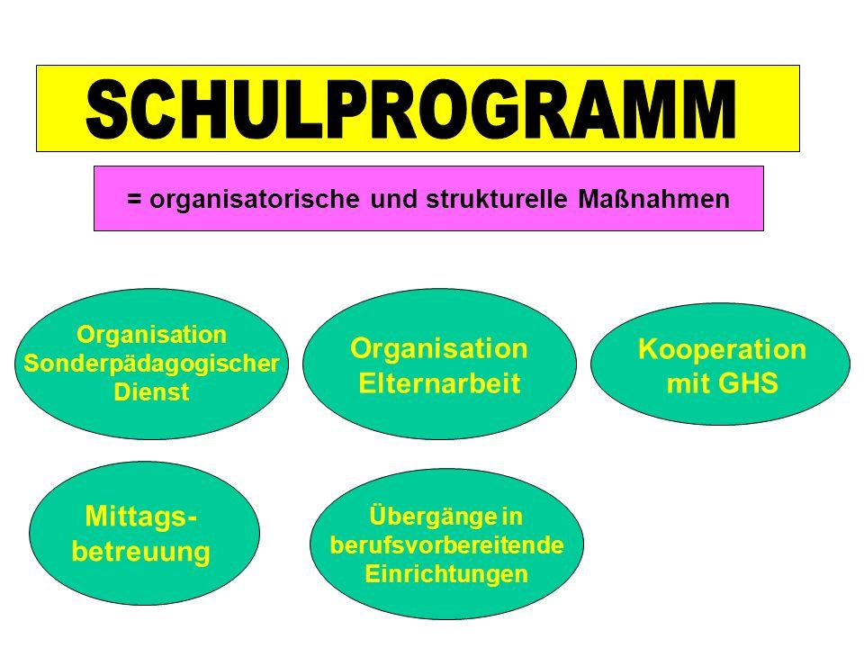 = organisatorische und strukturelle Maßnahmen