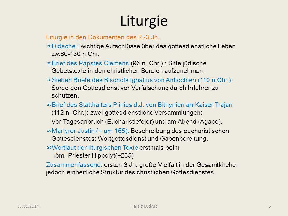 Liturgie Liturgie in den Dokumenten des 2.-3.Jh.