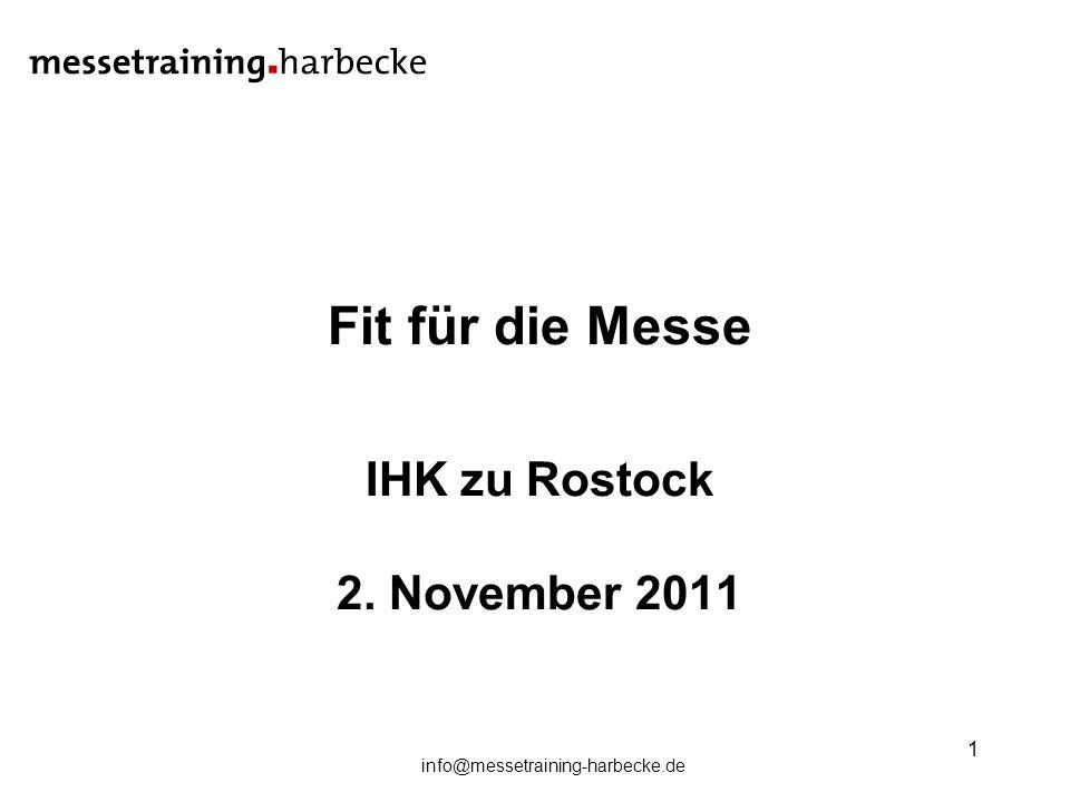 Fit für die Messe IHK zu Rostock 2. November 2011