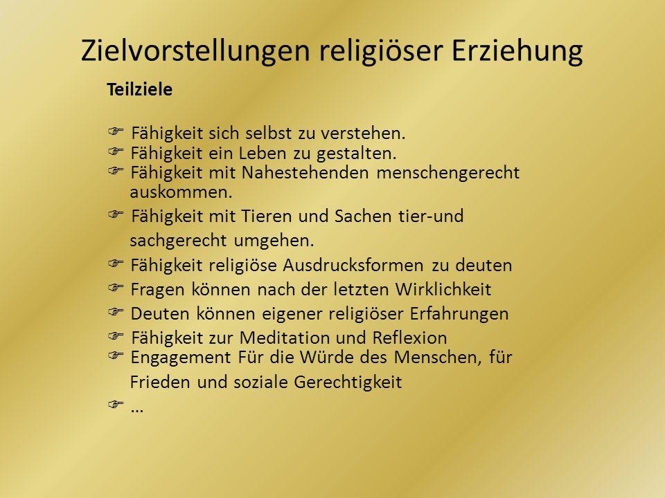 Zielvorstellungen religiöser Erziehung