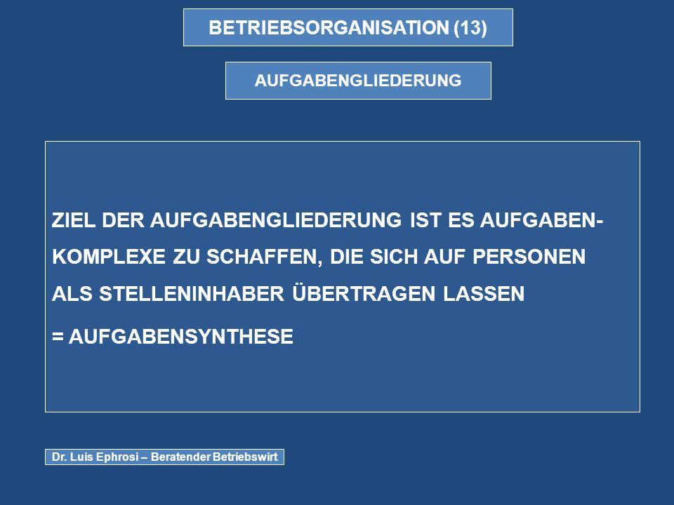 BETRIEBSORGANISATION (13)
