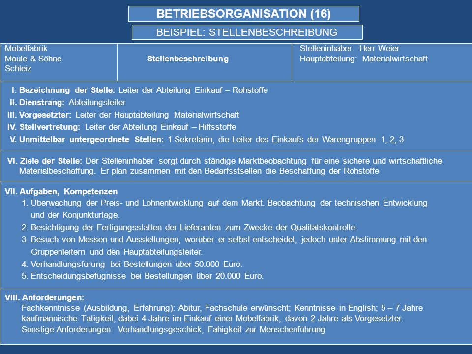 BETRIEBSORGANISATION (16)