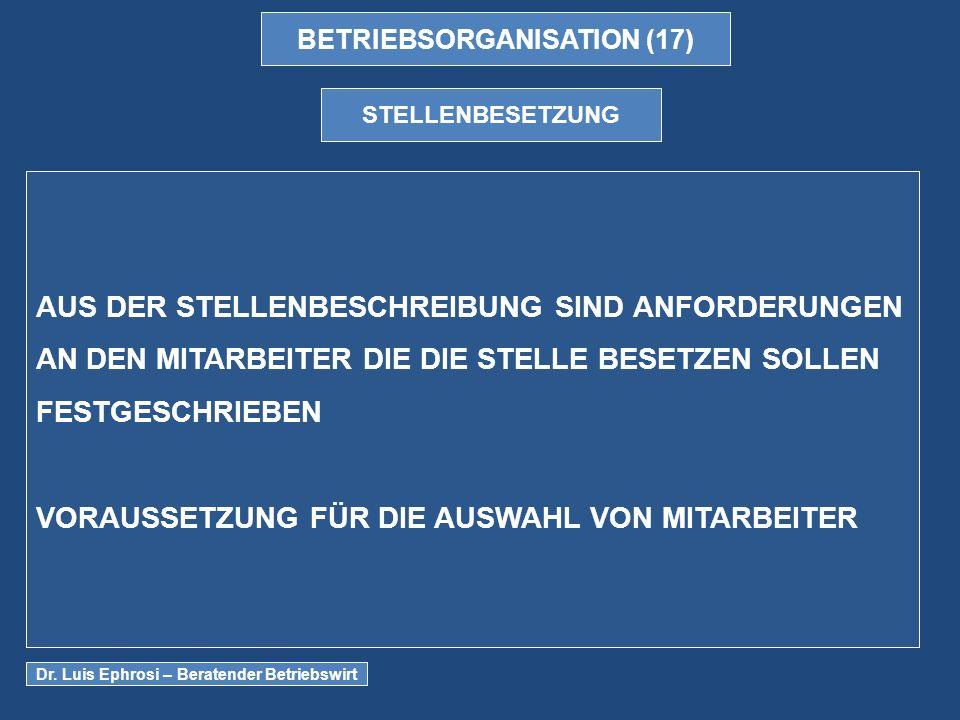BETRIEBSORGANISATION (17)