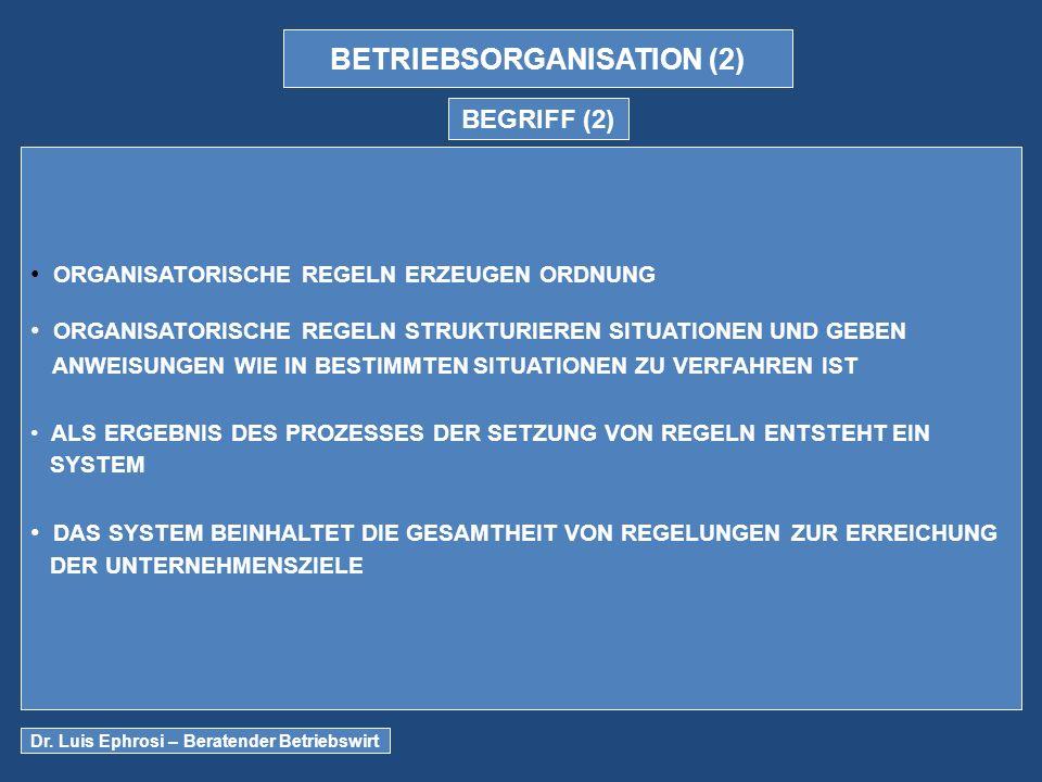 BETRIEBSORGANISATION (2)