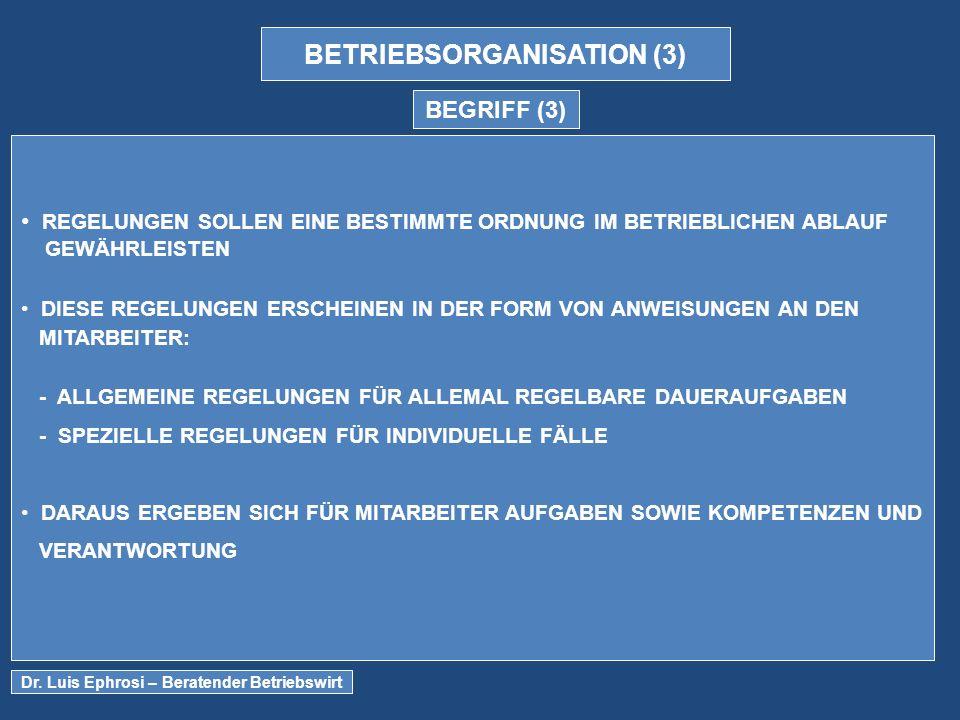 BETRIEBSORGANISATION (3)