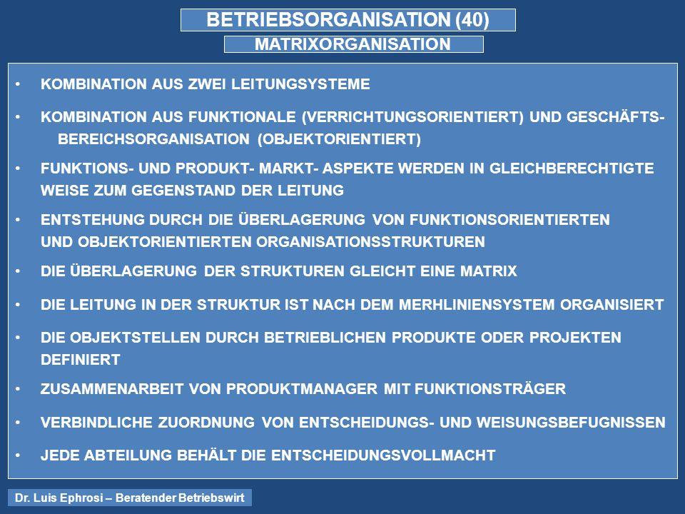BETRIEBSORGANISATION (40)