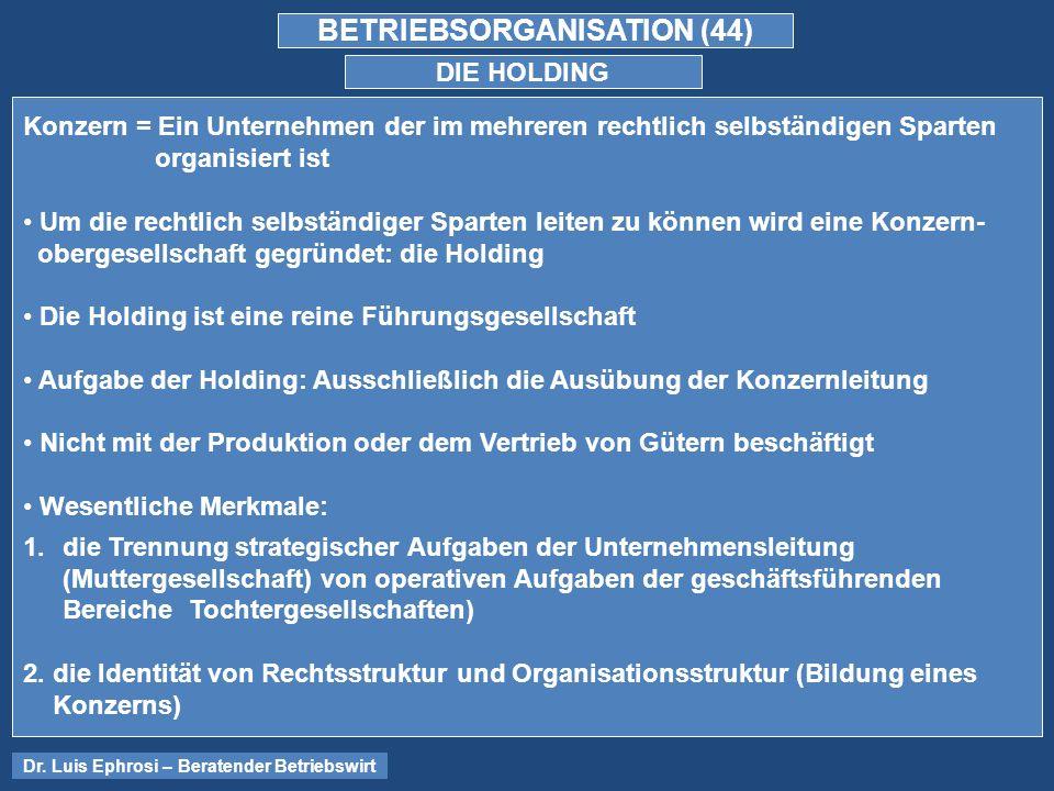 BETRIEBSORGANISATION (44)